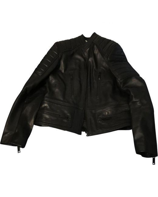 Vest.Blousons en Cuir Noir Sandro pour homme en coloris Black