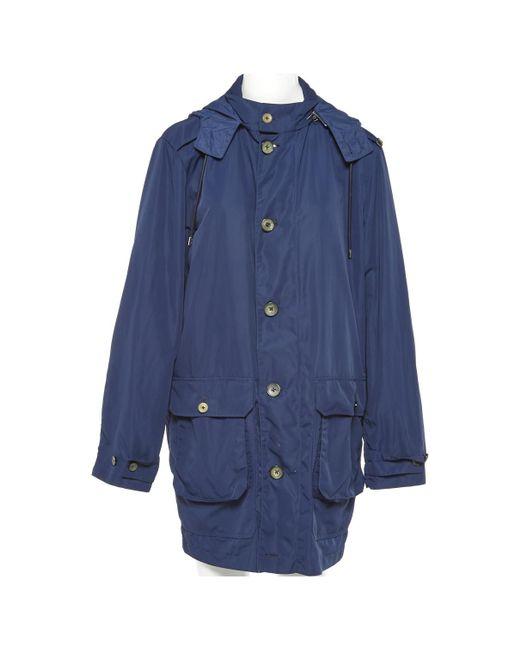 Louis Vuitton | Blue Pre-owned Cloth Parka for Men | Lyst