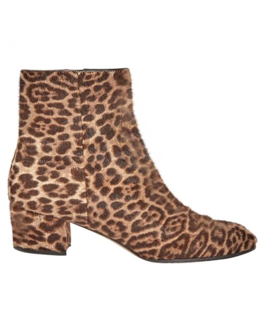 Gianvito Rossi - Pre-owned Brown Pony-style Calfskin Ankle Boots - Lyst