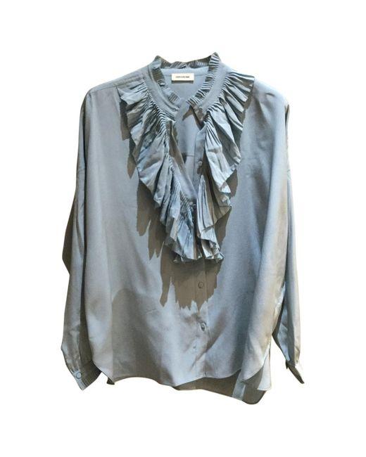 Zadig & Voltaire Camisa de Seda de mujer de color azul jc42R