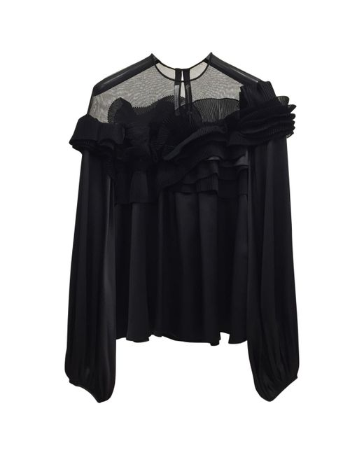 Givenchy - Pre-owned Black Silk Tops - Lyst