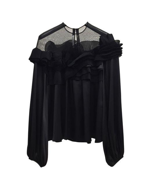 Givenchy - Black Silk Top - Lyst