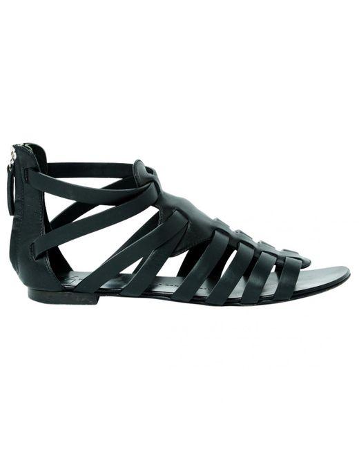 Giuseppe Zanotti - Black Leather Sandal - Lyst