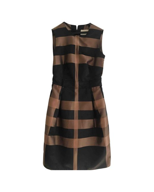 Burberry Vestido midi de Seda de mujer