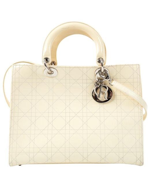 Dior - Natural Pre-owned Lady Patent Leather Handbag - Lyst