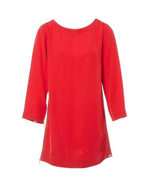 Marc By Marc Jacobs Red Polyester Dress