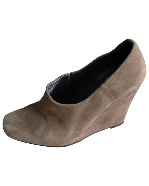Stuart Weitzman - Brown Pre-owned Other Suede Heels - Lyst
