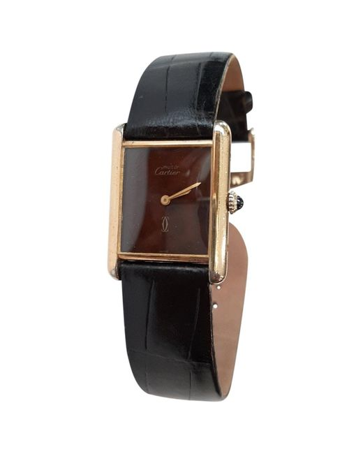 Cartier Multicolor Vintage Tank Must Gold Silver Gilt Watches