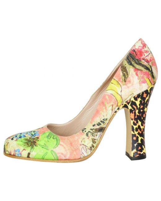 Vivienne Westwood - Natural Multicolour Leather Heels - Lyst