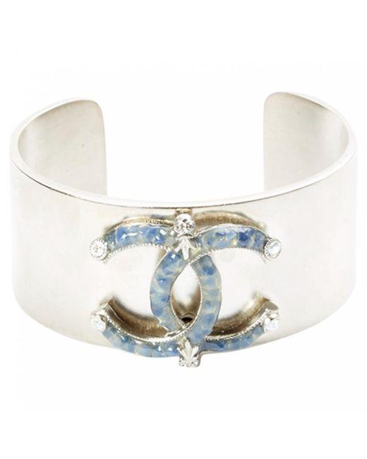 Chanel - Metallic Pre-owned Silver Metal Bracelet - Lyst