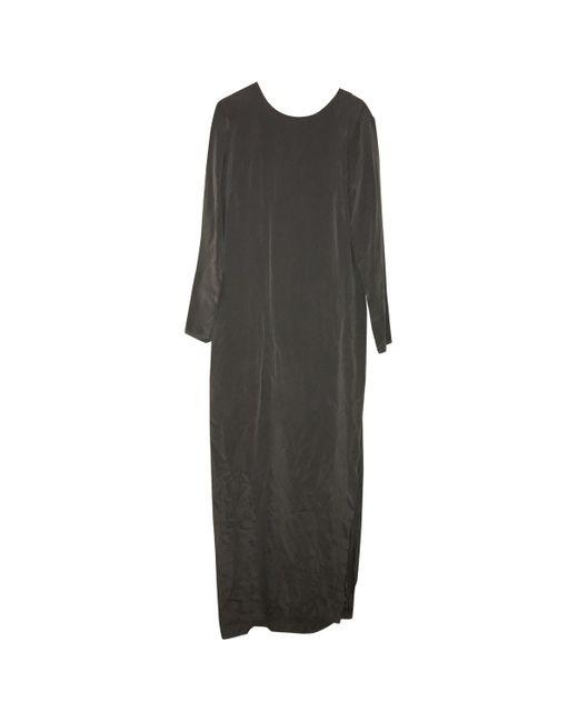 By Malene Birger Maxi vestido de Seda de mujer de color gris