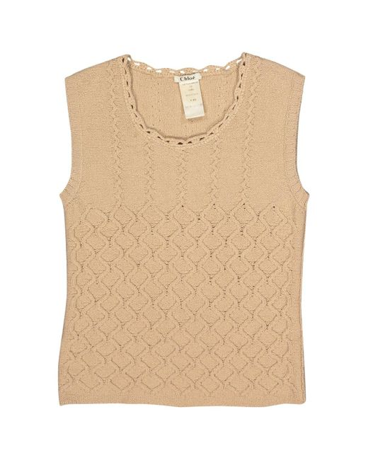 Chloé Natural \n Camel Wool Knitwear