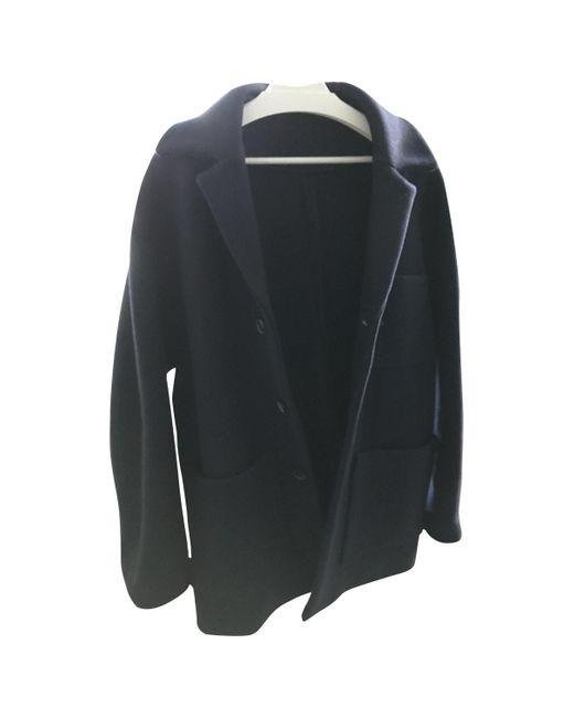 Acne Blue Navy Wool Coat for men