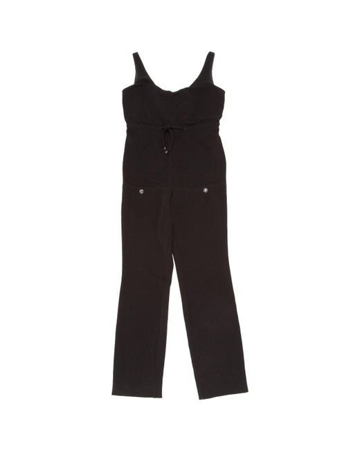 Chanel - Black Pre-owned Wool Jumpsuit - Lyst