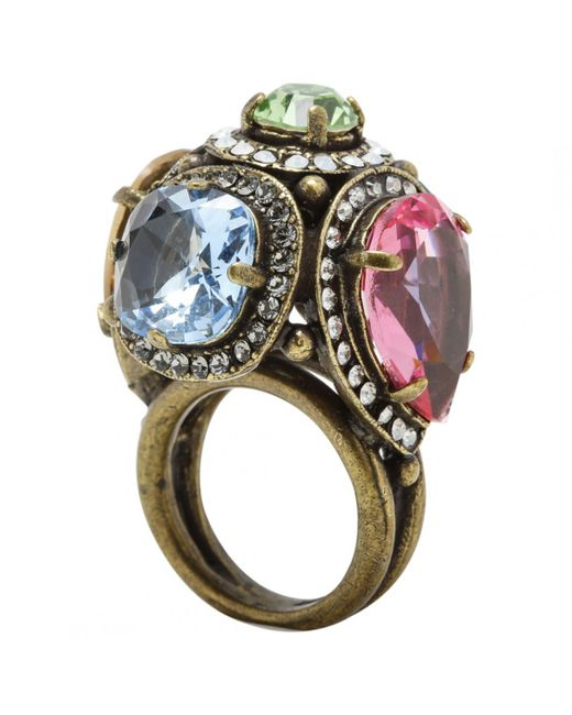 Lanvin - Multicolor Multicolour Metal Ring - Lyst