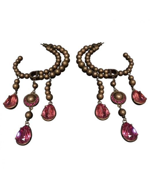 Dior | Pink Pre-owned Earrings | Lyst