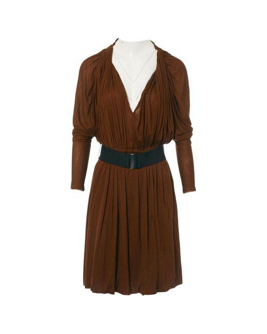 Lanvin Brown Viscose Dress