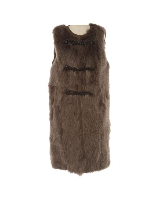 Emilio Pucci - Gray Vintage Grey Fox Coat - Lyst