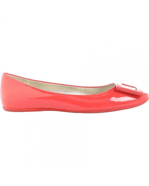 Roger Vivier - Pre-owned Orange Patent Leather Ballet Flats - Lyst