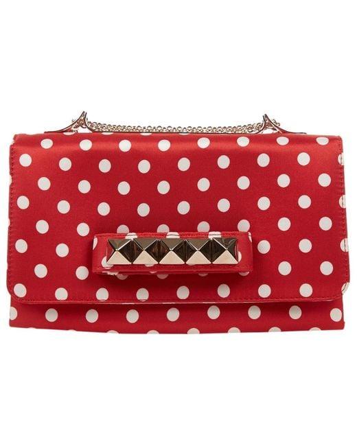 Valentino Vavavoom Red Silk Clutch Bag