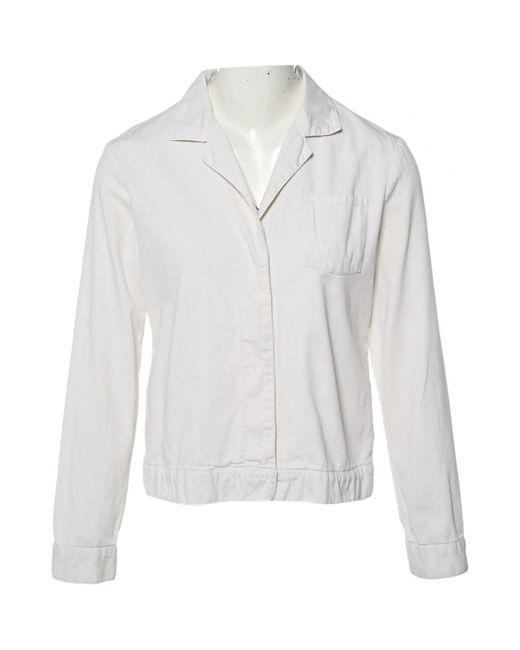 Helmut Lang White Ecru Cotton Jacket