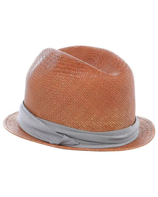 2b0daa578f9 Lyst - Rag   Bone Pre-owned Brown Other Hats   Pull On Hats in Brown ...