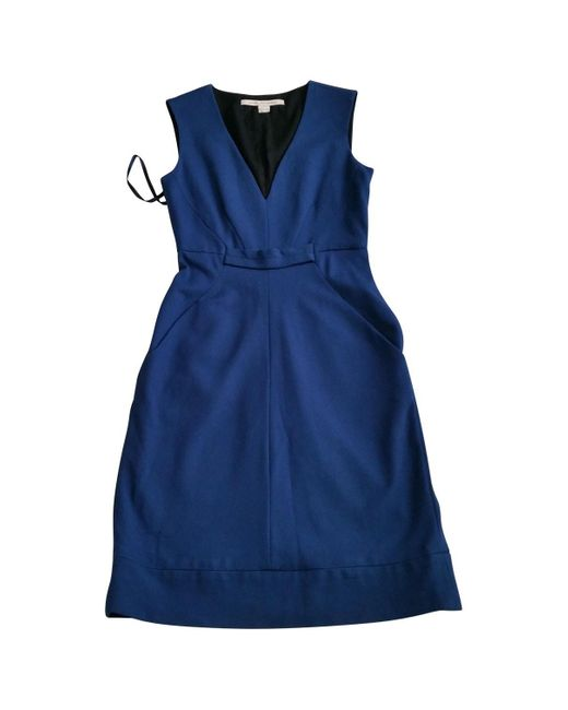 Diane von Furstenberg Blue Viscose Dress