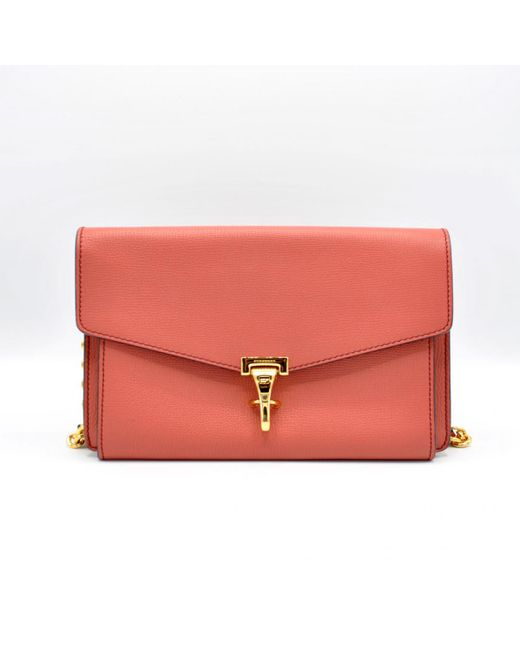 Burberry - Red Pre-owned Leather Handbag - Lyst