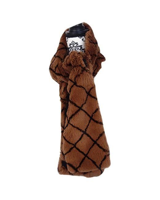 Chanel Brown Rabbit Scarf