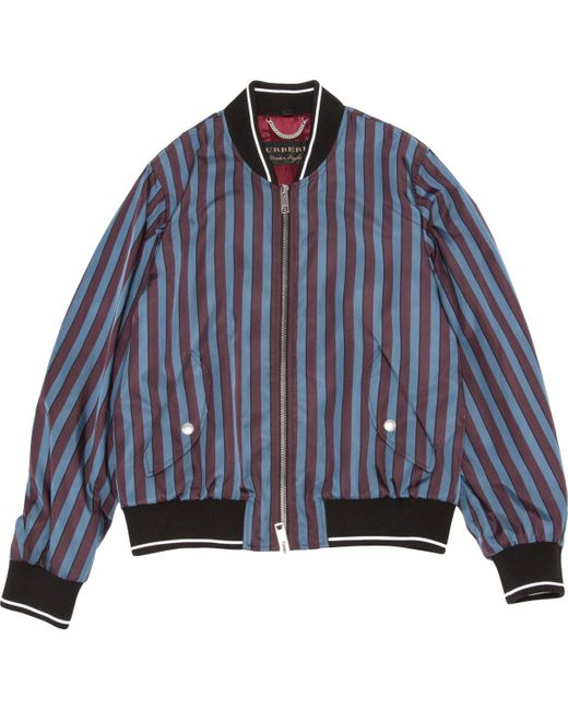 Burberry Blue Synthetic Jacket for men
