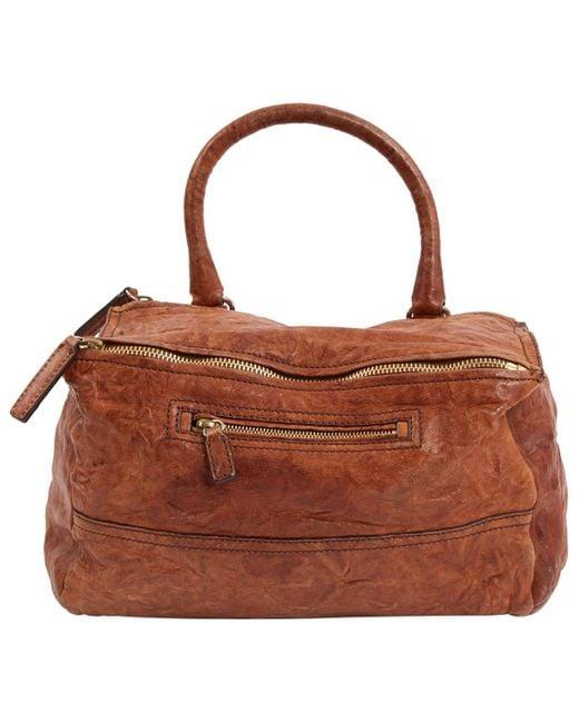 Givenchy Brown Pandora Leather Handbag