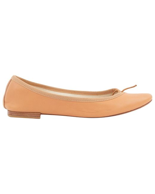 b3457cadd8be Repetto - Natural Leather Ballet Flats - Lyst ...