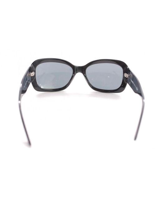 2c82b8641315 ... Chanel - Black Plastic Sunglasses - Lyst ...