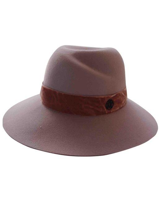 Chapeaux en Laine Rose Maison Michel en coloris Pink