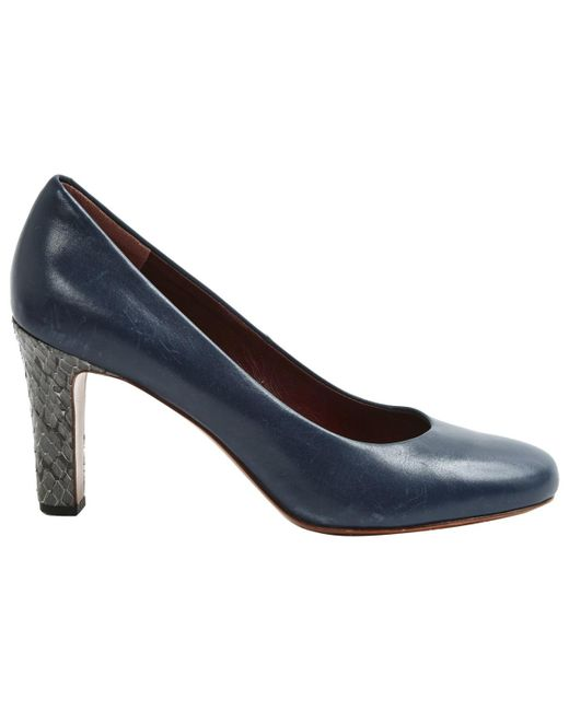 Marc By Marc Jacobs - Blue Pre-owned Leather Heels - Lyst