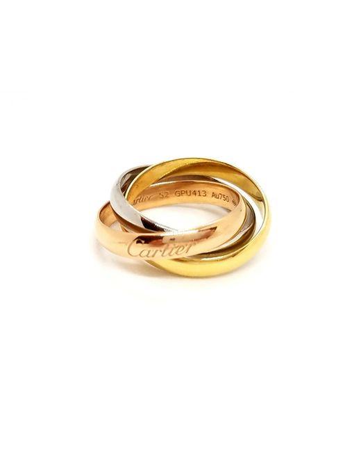 Cartier Metallic Trinity Pink Gold Ring