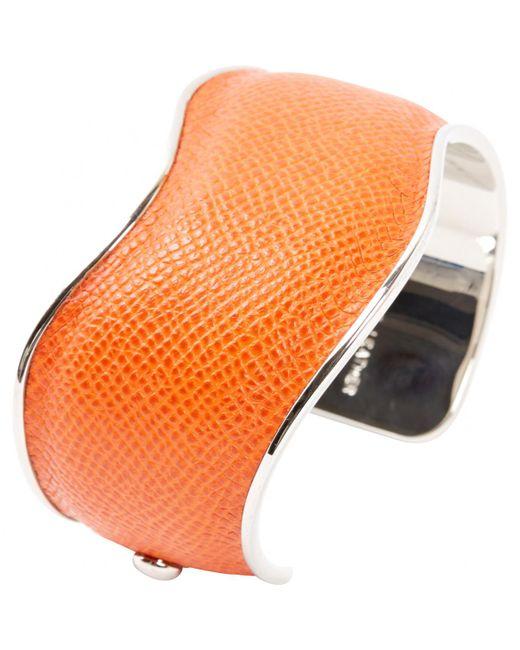 Tod's - Orange Leather Bracelet - Lyst