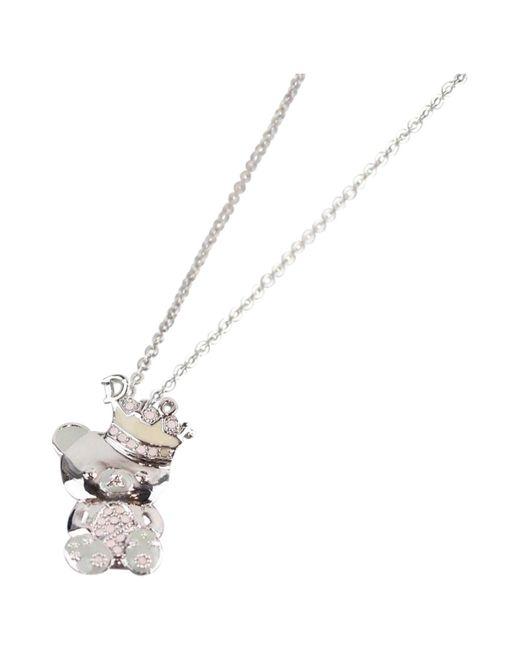 Dior - Metallic Silver Metal Necklace - Lyst
