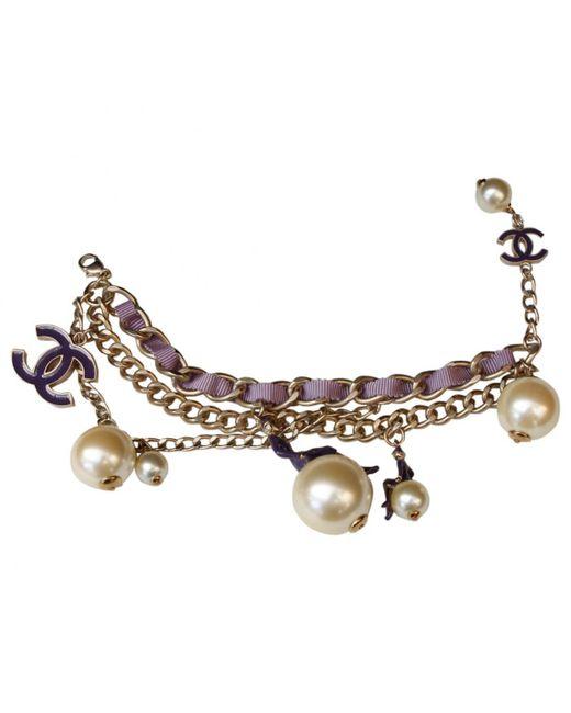 Chanel - Multicolor Metal Bracelet - Lyst