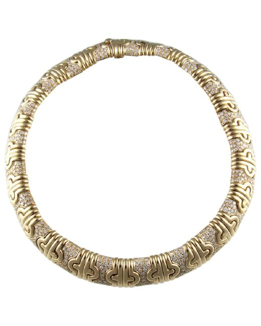 BVLGARI - Pre-owned Vintage Parentesi Yellow Yellow Gold Necklace - Lyst