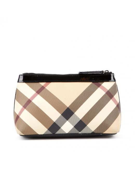 Pochette de Charol Burberry de color Black