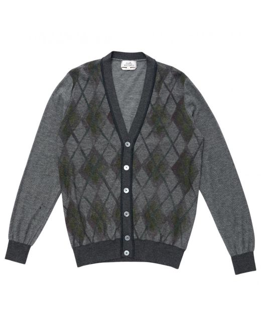 Hermès - Gray Wool Cardigan for Men - Lyst