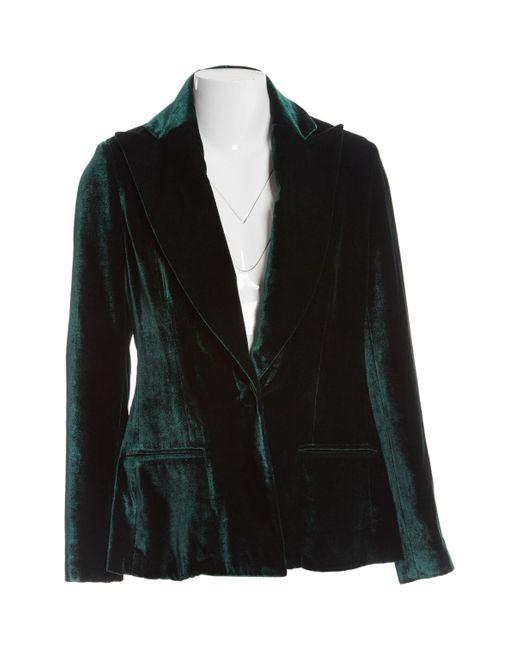 Vest \N en Viscose Vert Cushnie et Ochs en coloris Black