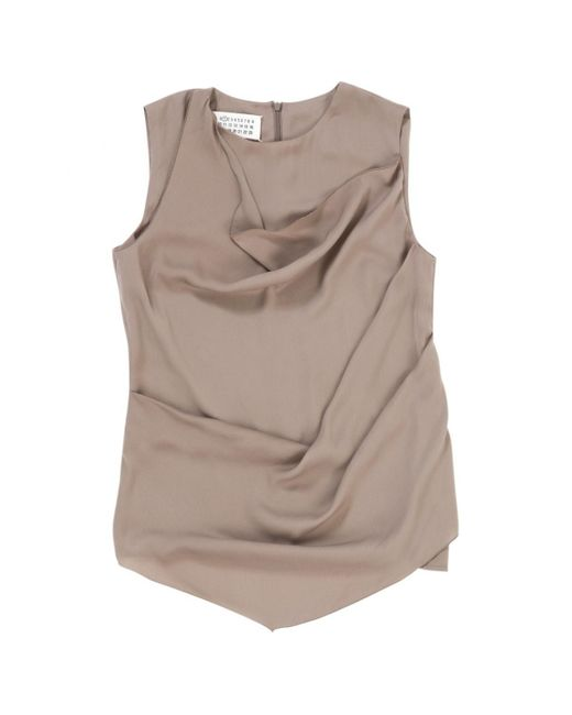 Maison Margiela Pink Polyester Top
