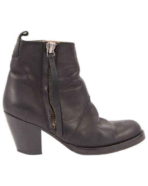 Acne Pistol Black Leather
