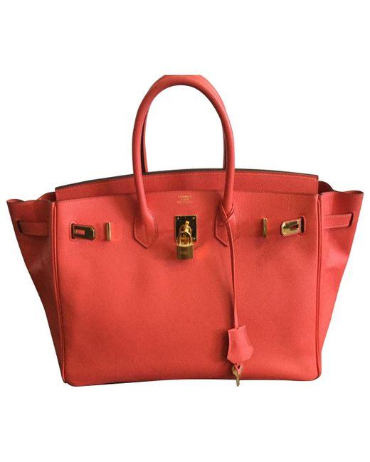 Hermès - Pink Pre-owned Birkin 35 Leather Handbag - Lyst