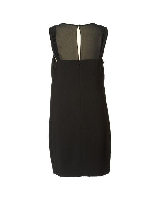 Sandro Black Polyester Dress