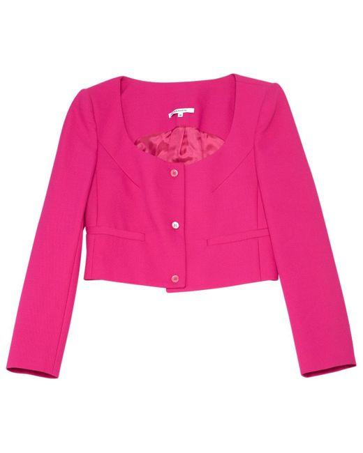 Carven Pink Viscose Jacket
