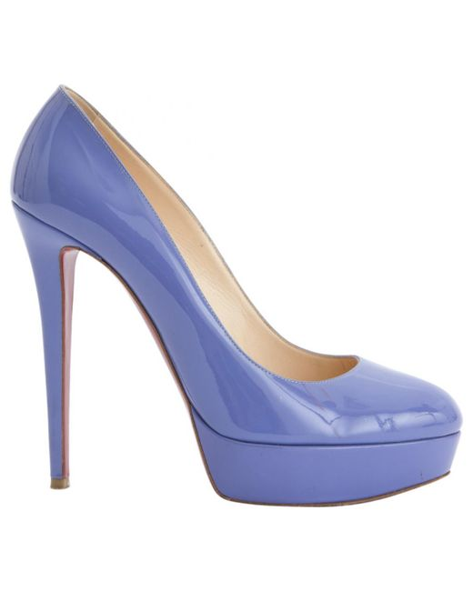 Christian Louboutin - Purple Bianca Patent Leather Heels - Lyst