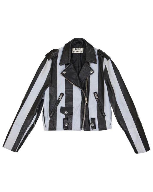 Acne Black Leather Leather Jacket